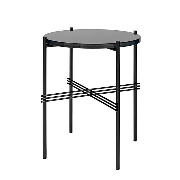 Gubi TS coffee table, 40 cm, black - black glass