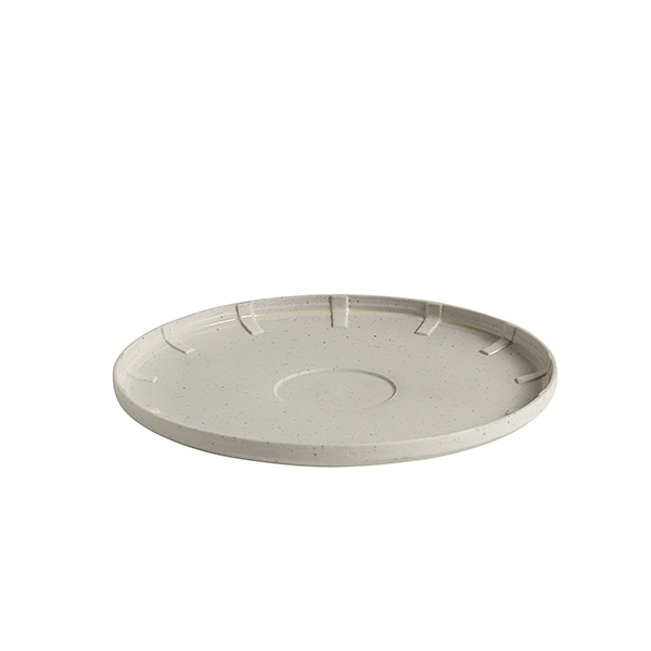 Hay Paper Porcelain coffee saucer, light grey
