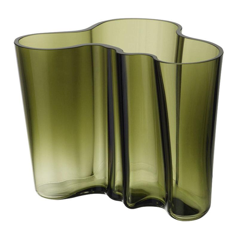 Iittala Aalto vase 160 mm, moss green