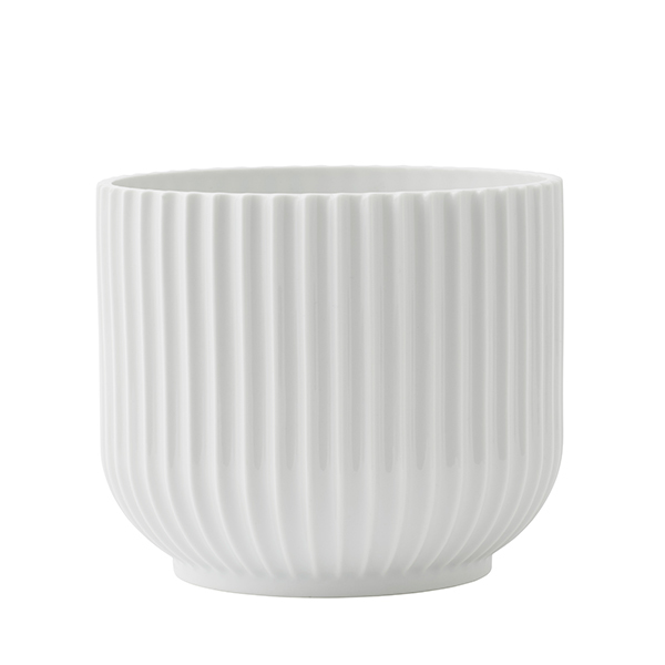 Lyngby Porcelain Flower pot, medium, white