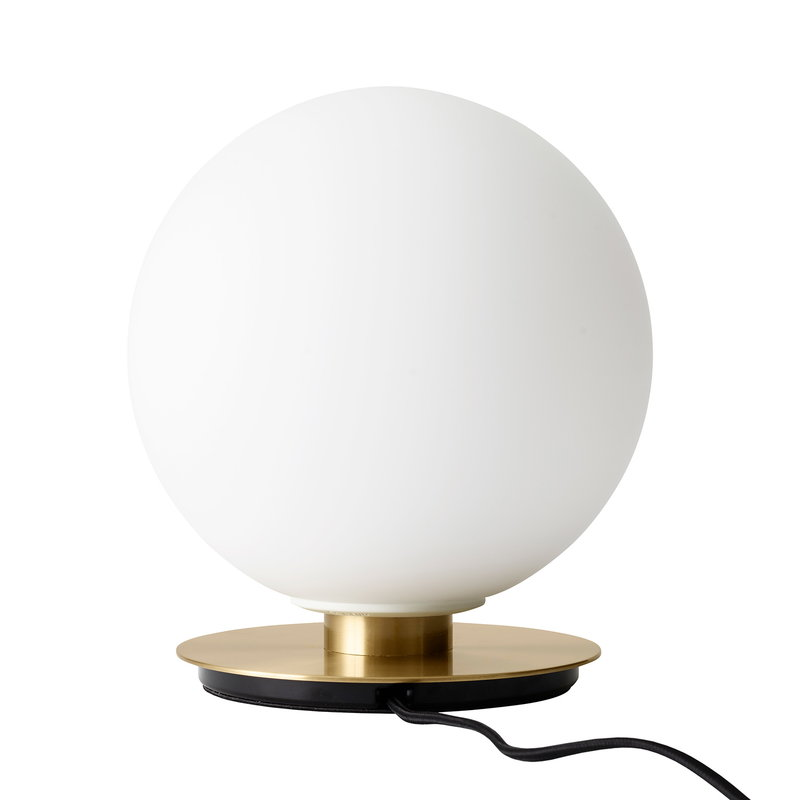 Menu TR Bulb table/wall lamp, brushed brass - matte opal