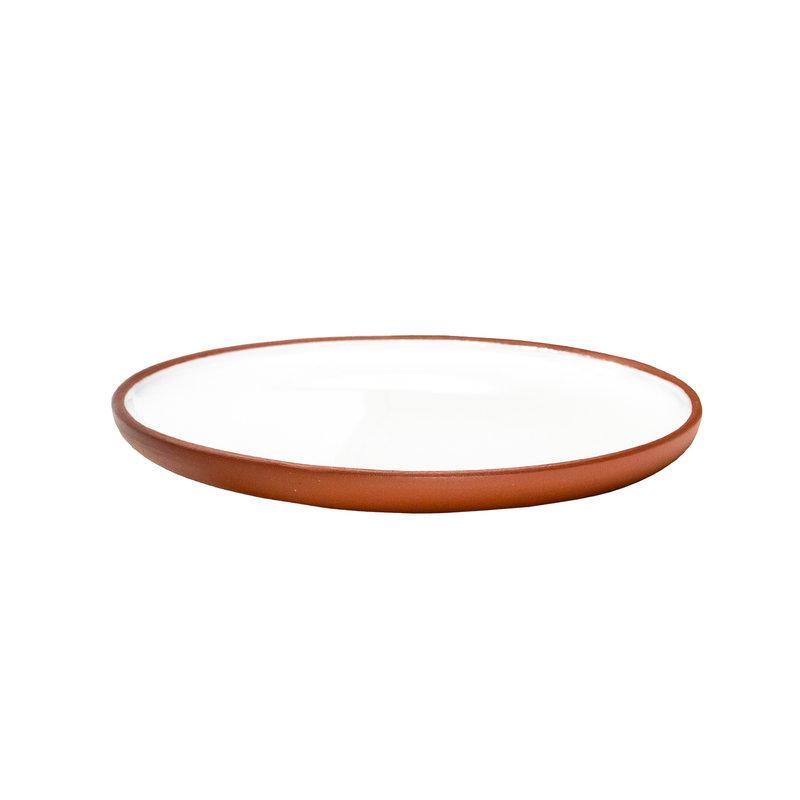 Vaidava Ceramics Earth plate 13 cm, 2 pcs, white