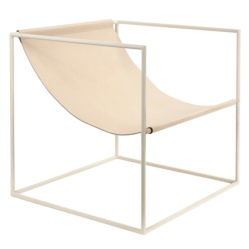 Valerie Objects Solo Seat lounge chair, cream - leather
