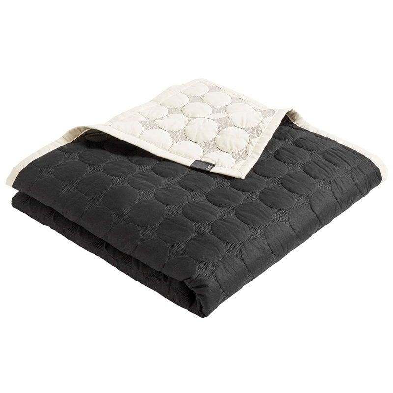 Hay Mega Dot bed cover, black - cream