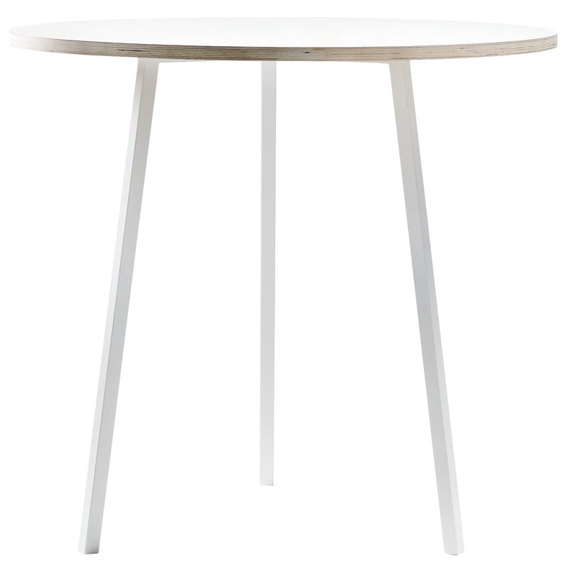 Hay Loop Stand round table 90 cm, high, white