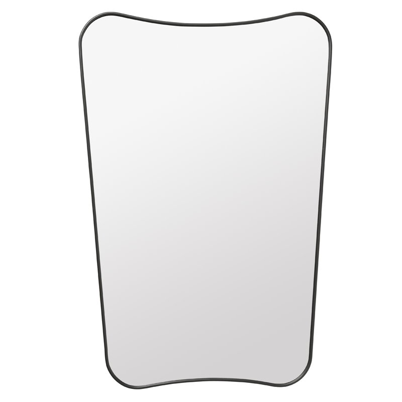 Gubi F.A. 33 mirror, small, black brass