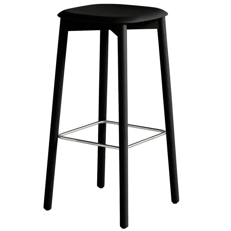Hay Soft Edge 32 bar stool, black stained oak