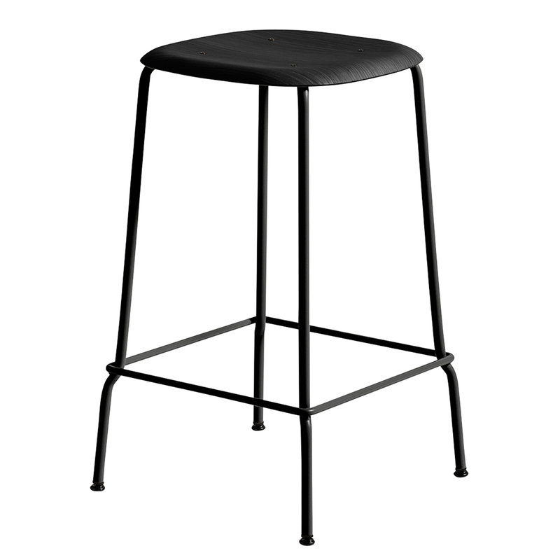 Hay Soft Edge 30 bar stool, 65 cm, black