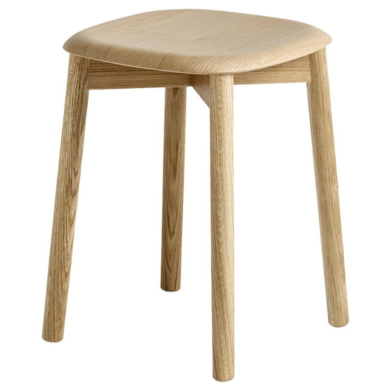 Hay Soft Edge 72 stool, matt lacquered oak