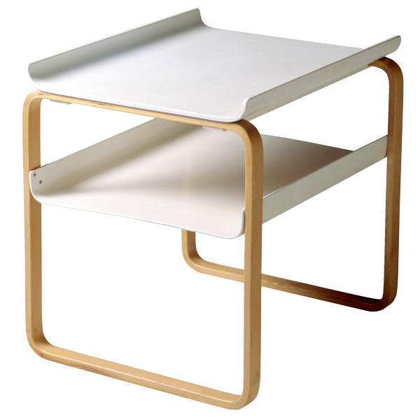 Artek Aalto side table 915, white - birch