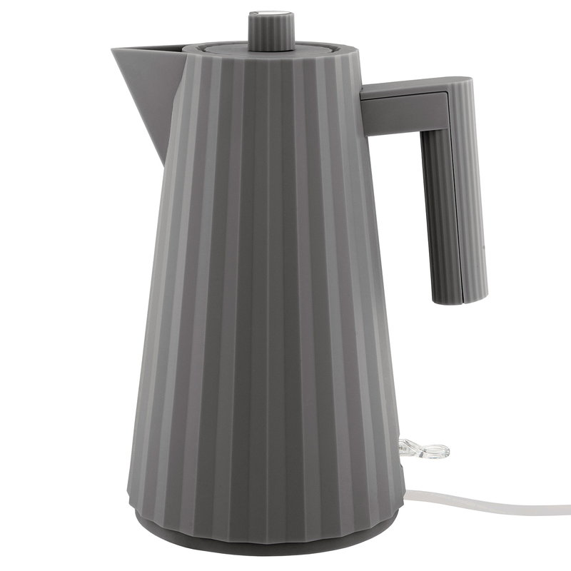 Alessi Plissé electric kettle, grey