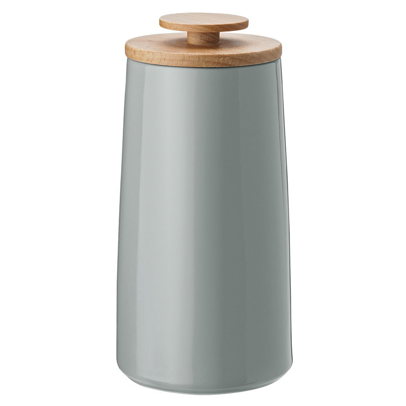 Stelton Emma storage jar, small, grey