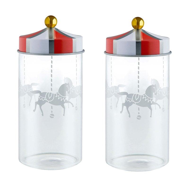 Alessi Circus lasipurkki, 2 kpl