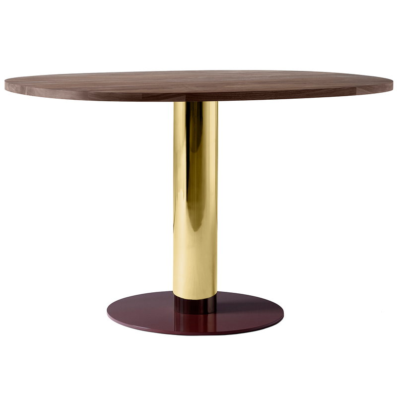 &Tradition Mezcla JH22 dining table, walnut - brass - burgundy
