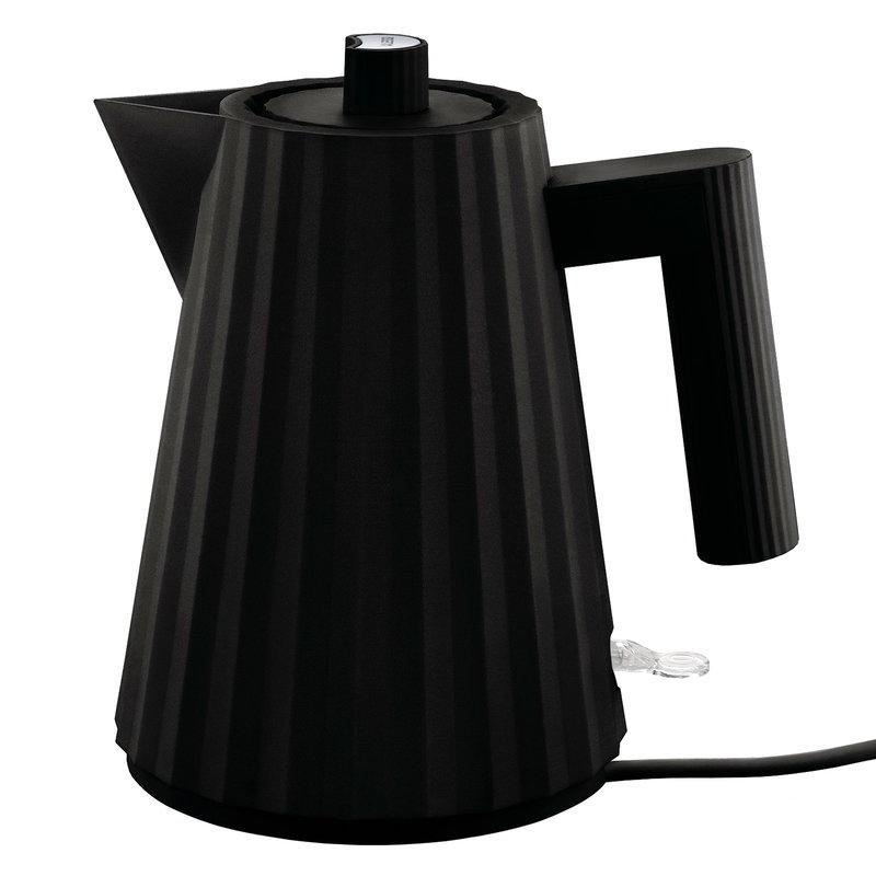 Alessi Plissé electric kettle 1 L, black