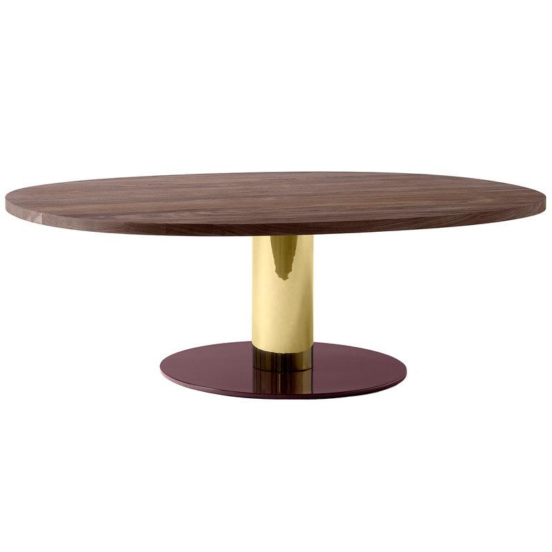 &Tradition Mezcla JH21 sohvapöytä, pähkinäpuu - messinki - viininpunainen
