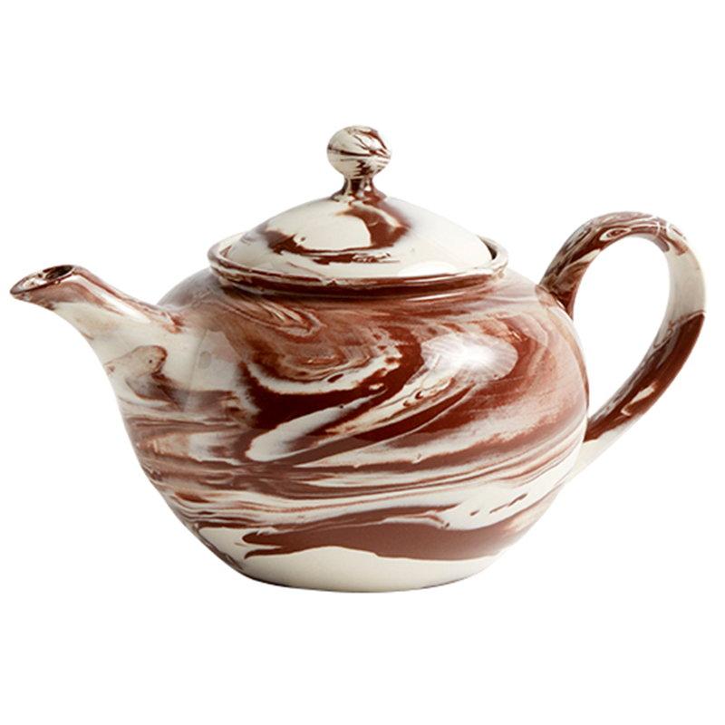 Hay Marmoroitu teekannu, ruskea