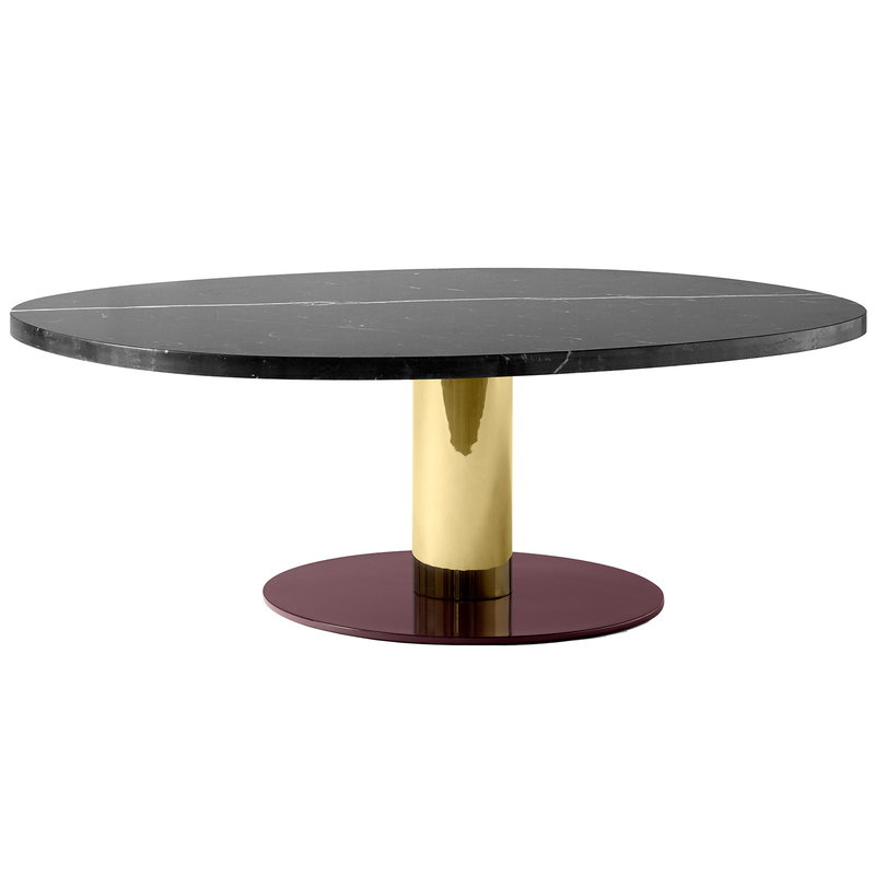 &Tradition Mezcla JH21 coffee table, marble - brass - burgundy