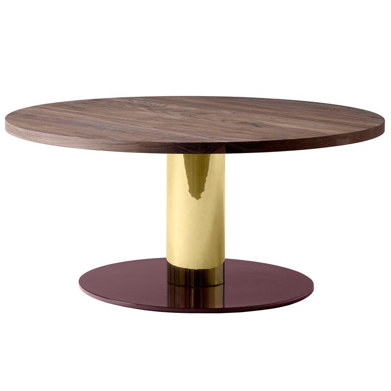 &Tradition Mezcla JH20 coffee table, walnut - brass - burgundy