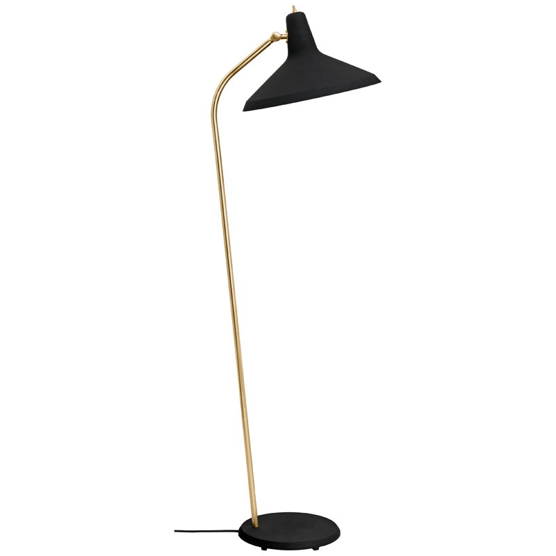 Gubi G-10 floor lamp, black - brass