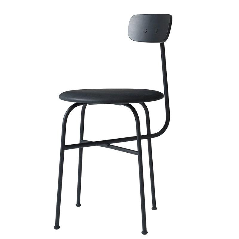 Menu Afteroom 4 tuoli, musta, nahkaverhoilu