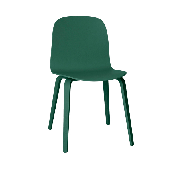 Muuto Visu chair, wood frame, dark green