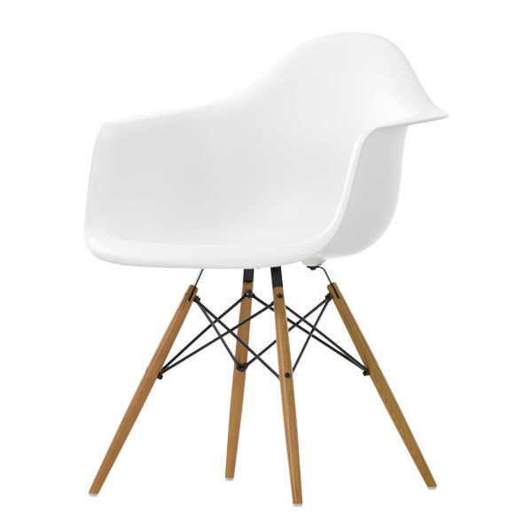Superieur Eames DAW Chair, White   Maple