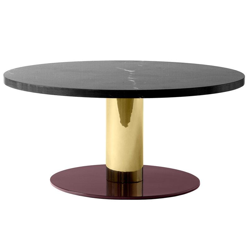 &Tradition Mezcla JH20 sohvapöytä, marmori - messinki - viininpunainen