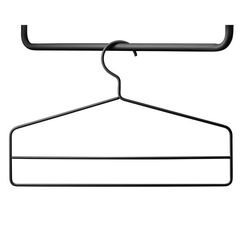 String String + hanger set, 4 pcs, black
