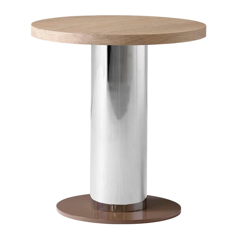 &Tradition Mezcla JH19 side table, oak - chrome - clay