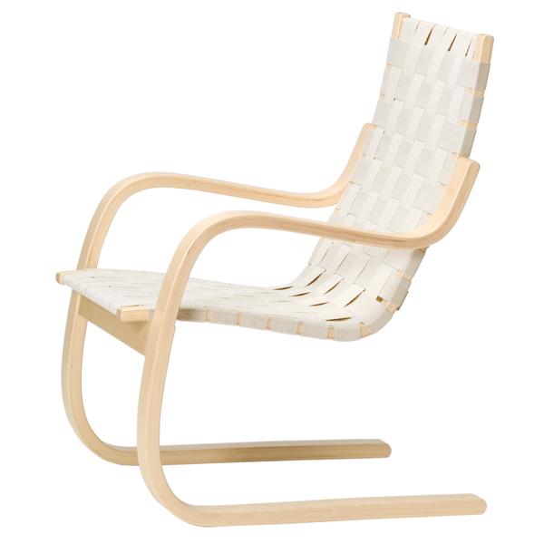 artek aalto armchair 406 natural linen finnish design shop. Black Bedroom Furniture Sets. Home Design Ideas