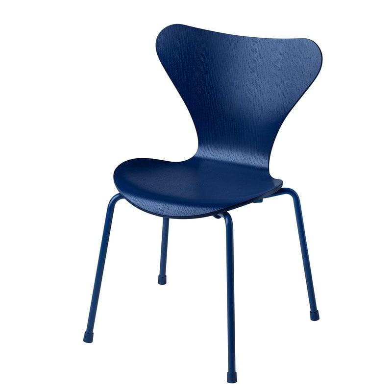 Fritz Hansen Series 7 children's chair, blue