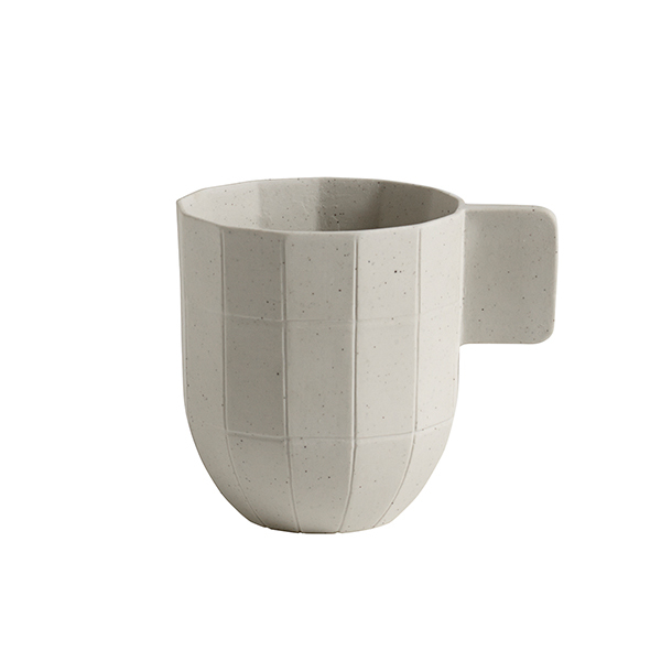 Hay Paper Porcelain coffee cup, light grey