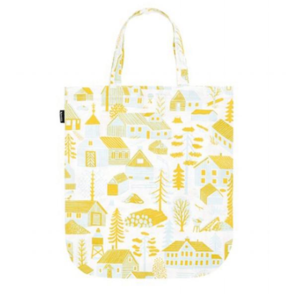 Kauniste Mökkilä tote bag, yellow