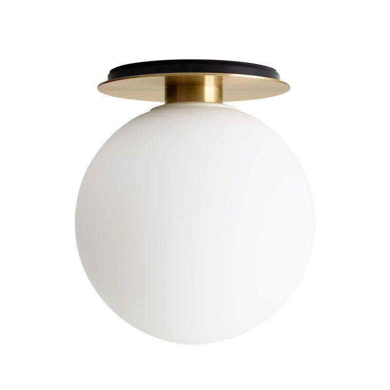 Menu TR Bulb ceiling lamp, brushed brass - matte opal