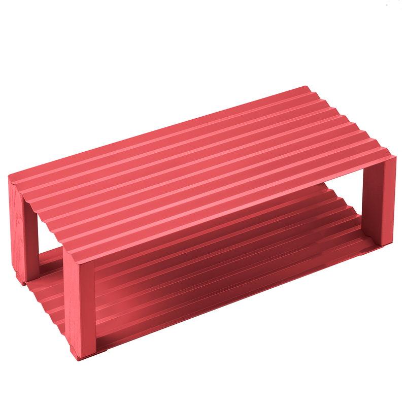 NakNak Corrugate shoe tray, red
