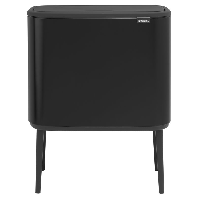 brabantia bo touch bin 11 23 l matt black finnish. Black Bedroom Furniture Sets. Home Design Ideas