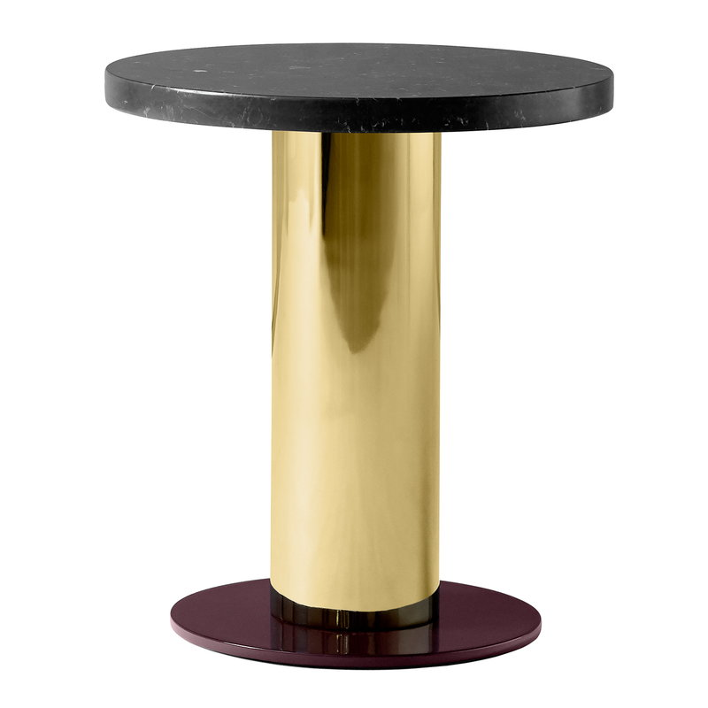 &Tradition Mezcla JH19 side table, marble - brass - burgundy