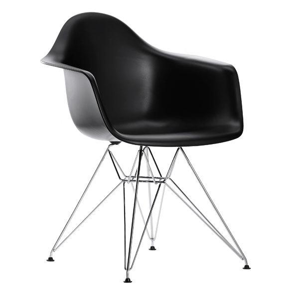 Bon Eames DAR Chair, Black   Chrome