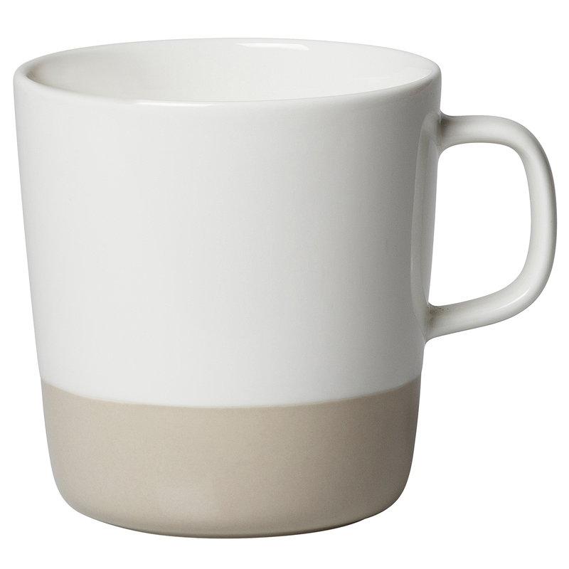 Marimekko Oiva - Puolikas mug 4 dl, white - beige