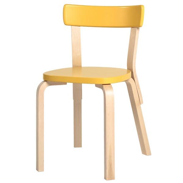 Artek Aalto tuoli 69, keltainen