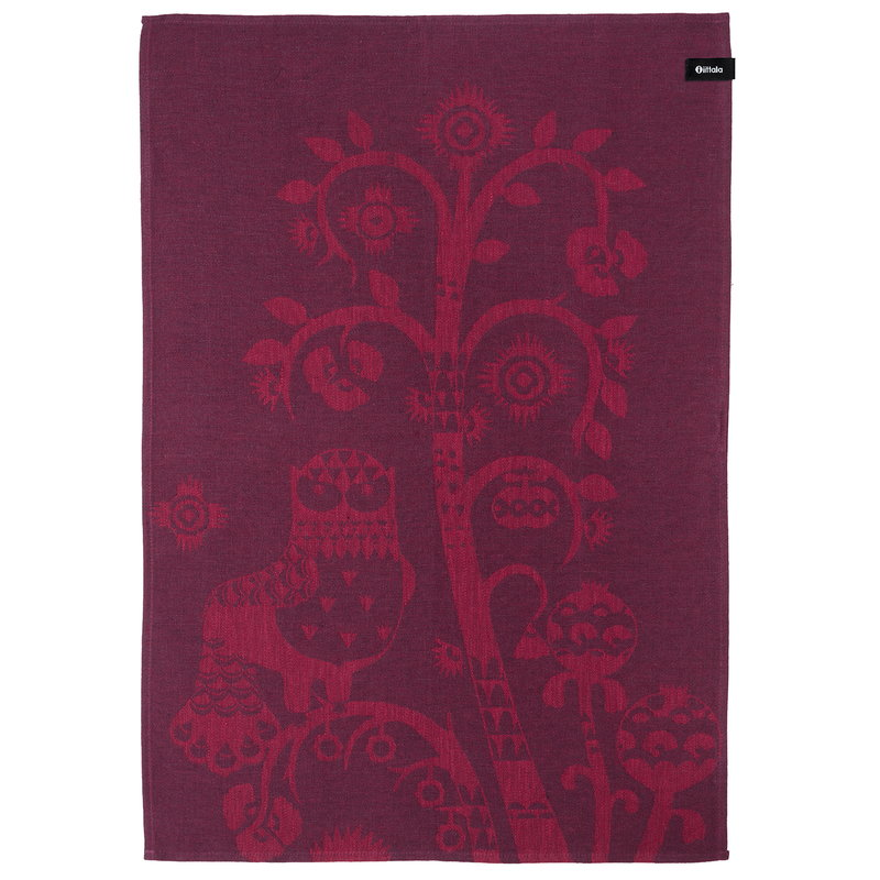 Iittala Taika tea towel, plum