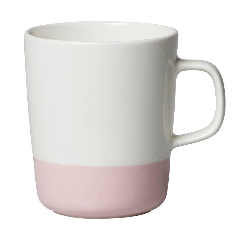 Marimekko Oiva - Puolikas mug 2,5 dl, white - pink