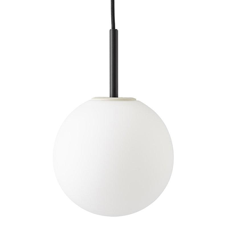 Menu Lampada a sospensione TR Bulb, nero - opalino opaco