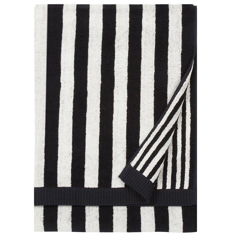 Marimekko Kaksi Raitaa bath towel, black - white