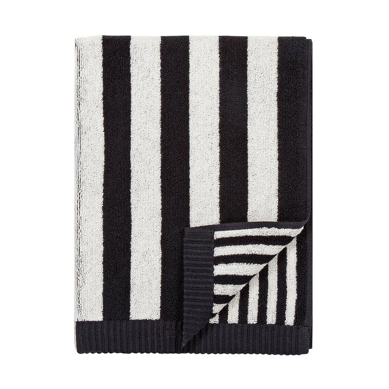 Marimekko Kaksi Raitaa hand towel, black - white