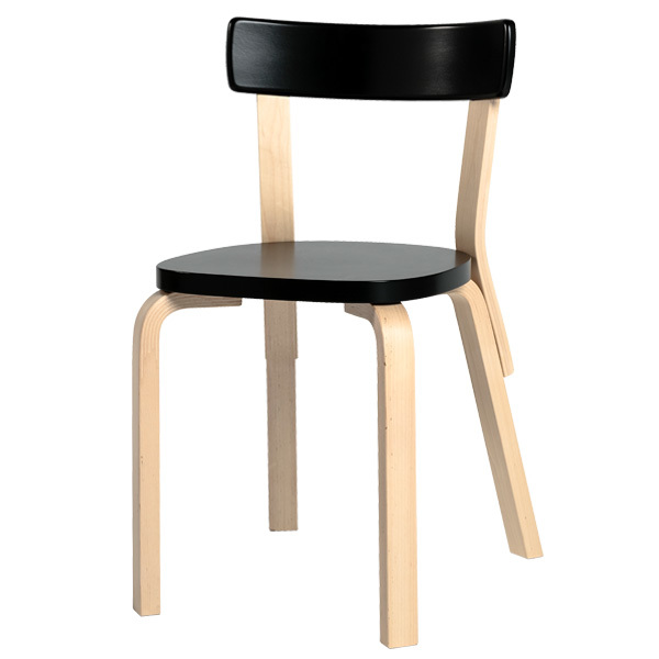 Artek Aalto tuoli 69, musta