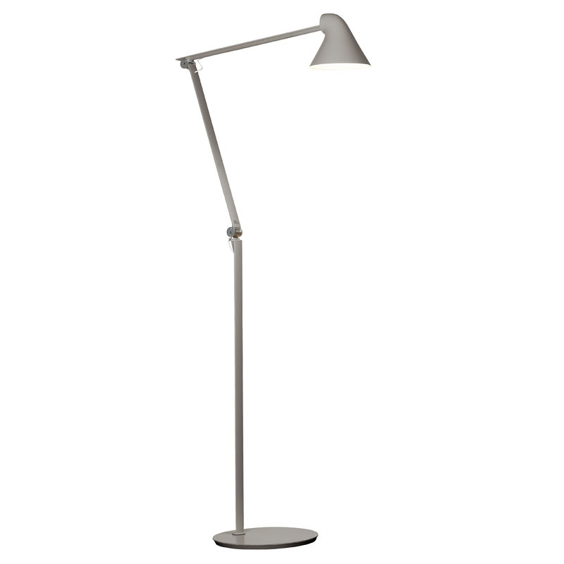 Louis Poulsen NJP floor lamp, light grey