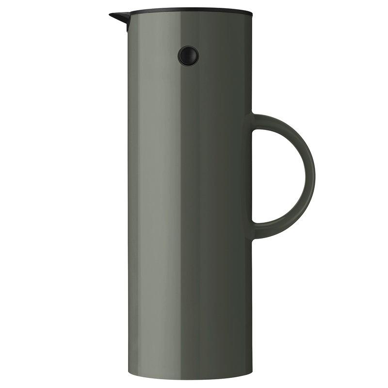 Stelton EM77 vacuum jug 1,0 L, dark forest green