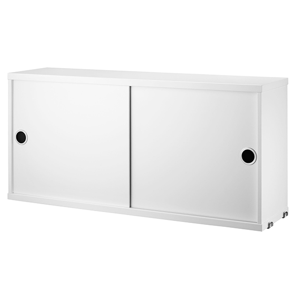 String Furniture String cabinet, 78 x 20 cm, white